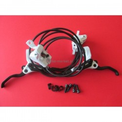 Hamulce hydrauliczne ,komplet Shimano BL/BR-M395 biało-czarne długość 75/130 PM i PM